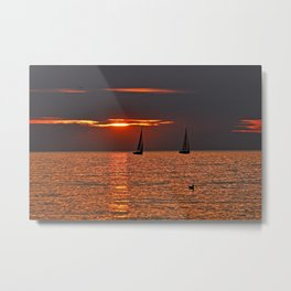 LUCE ROSSO - BALTIC SEA Metal Print