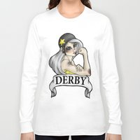 roller derby Long Sleeve T-shirts featuring Roller Derby  by Hungry Designs