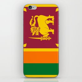 Flag of sri Lanka -ceylon,India, Asia,Sinhalese, Tamil,Pali,Buddhist,hindouist,Colombo,Moratuwa,tea iPhone Skin