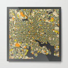 BALTIMORE MAP Metal Print