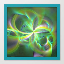 Out of Control Teal Canvas Print