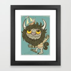 An Ode To Wild Things Framed Art Print