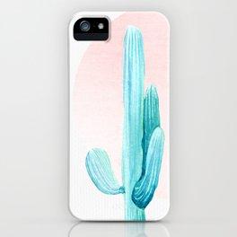 Desert Cactus Rose Gold Sun iPhone Case