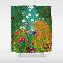 Gustav Klimt - Flower Garden Shower Curtain