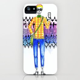 Hipster Death iPhone Case