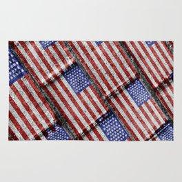 Usa Flag Grunge Pattern Rug