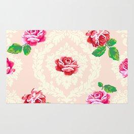 Shabby Chic Rose Pattern Rug