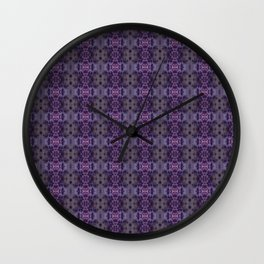 Purple Iris Abstract Pattern Wall Clock