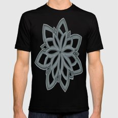 Just Another Flower MEDIUM Mens Fitted Tee Black