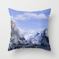 yosemite Throw Pillows featuring Yosemite by Ian Bevington