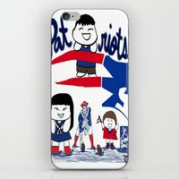 patriots iPhone & iPod Skins featuring Team Patriots!  by Happy Positivity