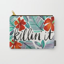 Killin' It – Tropical Red & Green Carry-All Pouch