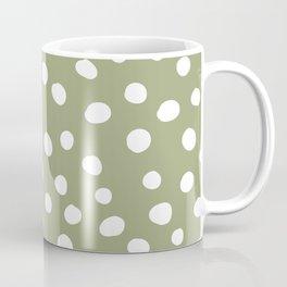 Dots Collection - Medium Green Coffee Mug
