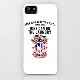 United States Service Dog For The Disabled And The Blind iPhone Case