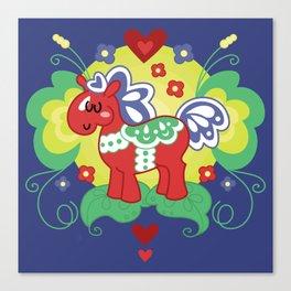 Red Valley Horse - Swedish Dala-Horse Canvas Print