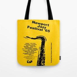 Vintage 1965 Newport, R.I Jazz Festival Advertisement Poster Tote Bag