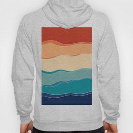 Retro Summer Ocean Wave #1 #minimal #decor #art #society6 Hoody