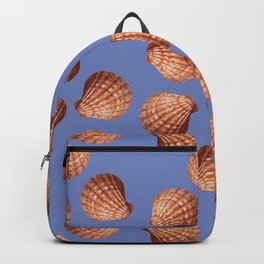 Blue Big Clams Illustration pattern Backpack