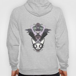 Witch, Crows, Cat Skull, And All Seeing Eye Of Providence Hoody