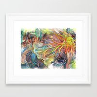 bride Framed Art Prints featuring Bride by Andrea Montano