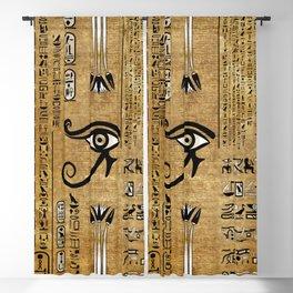 Egyptian Eye of Horus - Wadjet Ornament Blackout Curtain