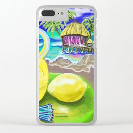 Lemon Paradise Clear iPhone Case