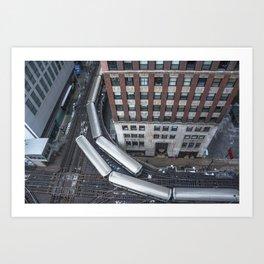 'L'evated Train Art Print