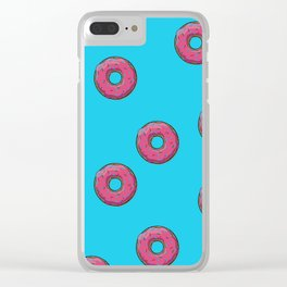 Donut Pattern Clear iPhone Case