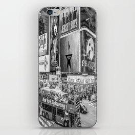 Times Square II (B&W widescreen) iPhone Skin