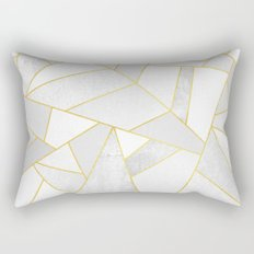 White Stone Rectangular Pillow