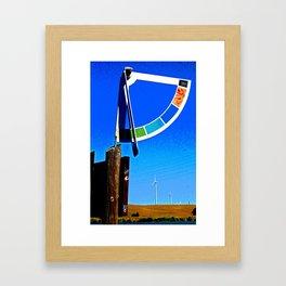 Delta Wind Gauge for Kite Boarders Framed Art Print