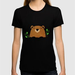 Adorable Groundhog Pattern T-shirt
