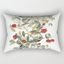 Audubon warbler, Birds of America, Audubon Plate 395 Rectangular Pillow