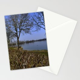 Looking at a lake in Laupheim Stationery Cards