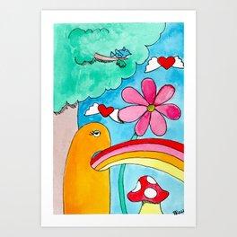 Rainbow Puke Art Print