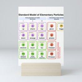 Physics - Standard Model of Elementary Particles - Physicist Mini Art Print