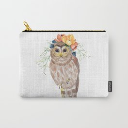 Owl with flower crown Carry-All Pouch