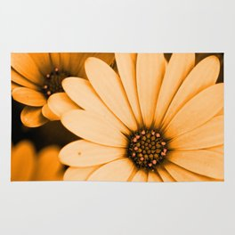 Orange Daisy Rug