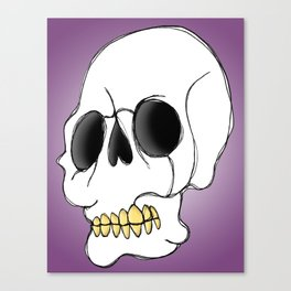 Skull - Side View Canvas Print