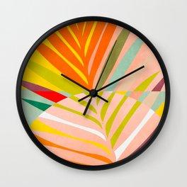 minimal leave tropical spring Wall Clock