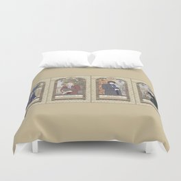 Sherlock Victorian Language of Flowers Four Seasons Duvet Cover