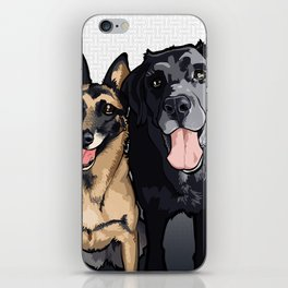 Two Dogs iPhone Skin