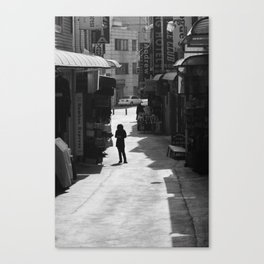 Early Morning Shopkeeper Canvas Print