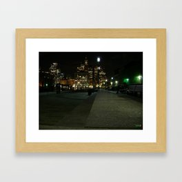 BOSTON SKYLINE Framed Art Print