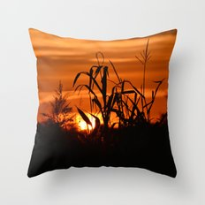 Silhouttes in a Sunrise Throw Pillow
