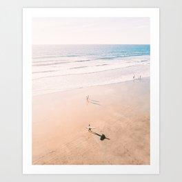 Surf Stroll Art Print