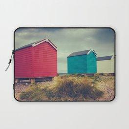 British Retro Beach Huts Laptop Sleeve