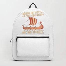 Viking longboat t-shirt birthday shirt men Backpack