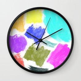 Summer Palette Wall Clock