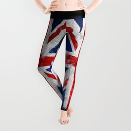 Vintage England flag Leggings